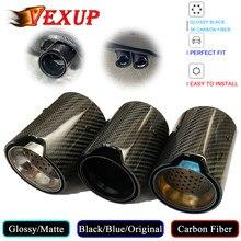 Silenciador de tubo de escape trasero de fibra de carbono para coche, accesorios de estilo deportivo para BMW Serie M, Brillo/mate, 1 Uds.