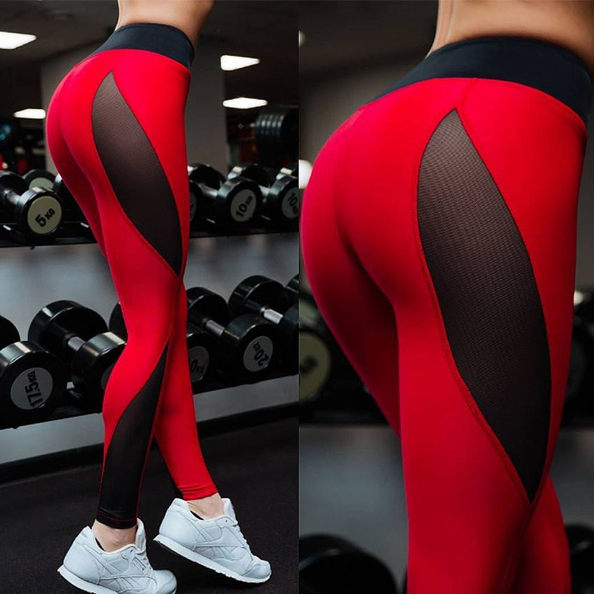 Female Outdoor Tight Pants New Style Red Black Breathable Fitness Running Stretch Trousers Dance Thin Sexy Fitness Pants