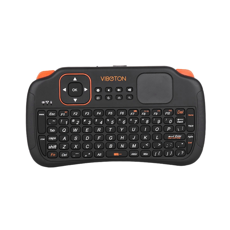 Viboton S1 English All-In-One 2.4G Wireless <font><b>Keyboard</b></font> Air Mouse Remote Controller <font><b>with</b></font> <font><b>Touchpad</b></font> for Windows Linux for Computer Pr image