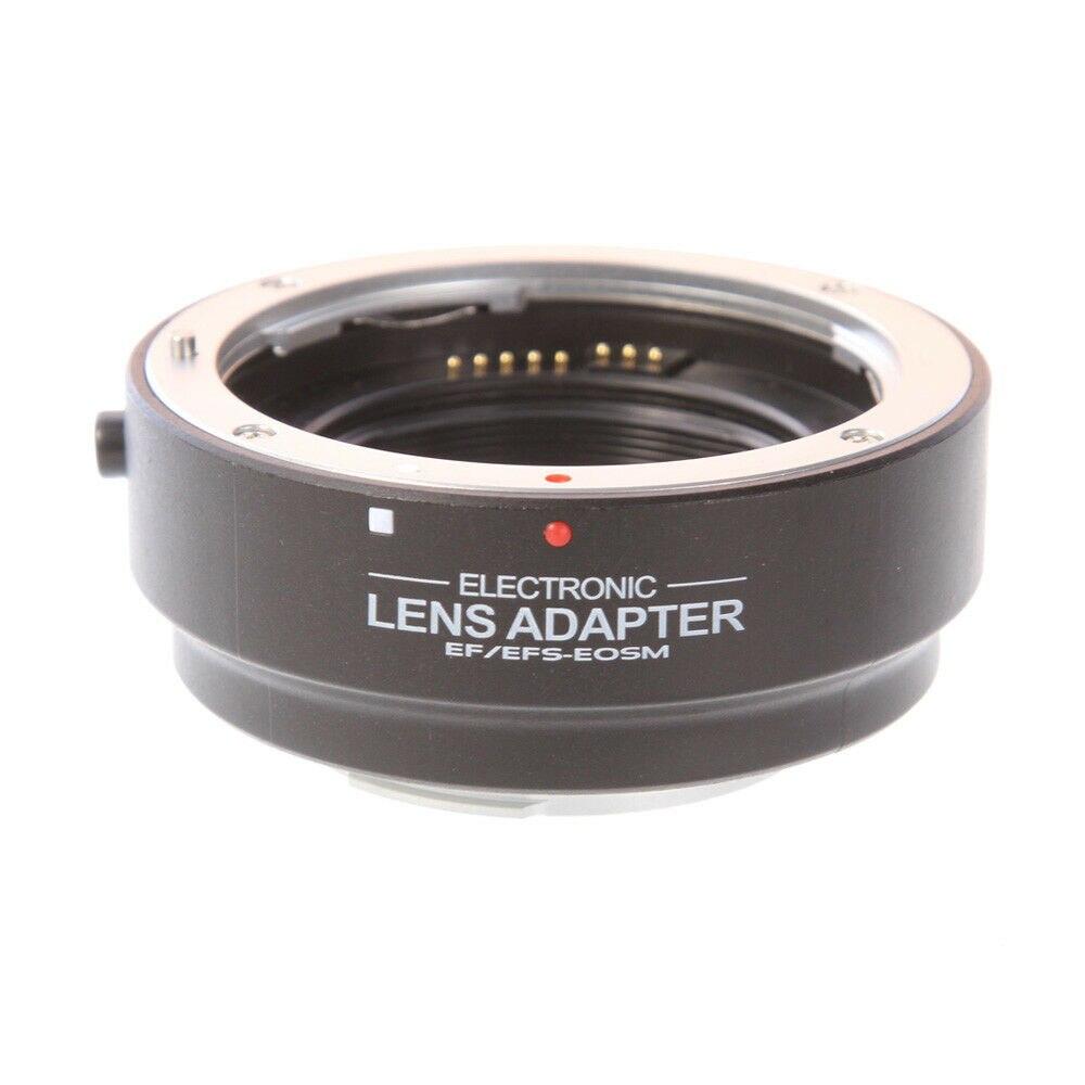 Anillo adaptador de lente electrónico AF de enfoque automático para cámara Canon EF EF-S a EOS M EF-M