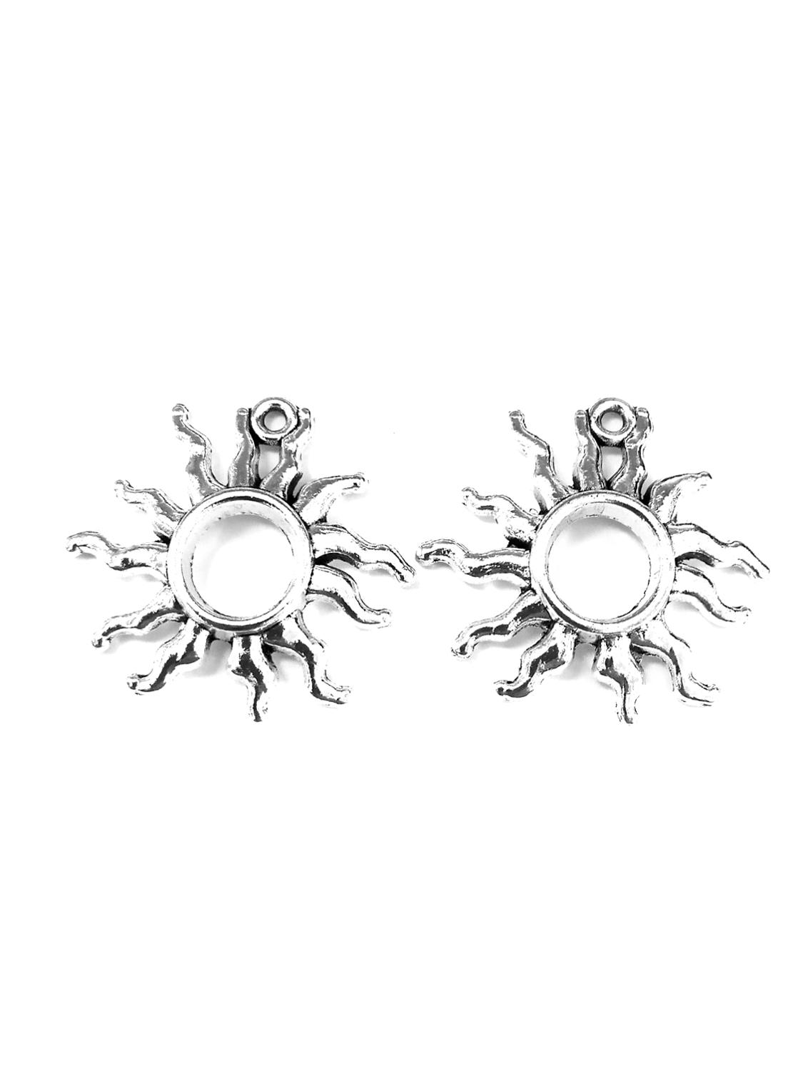 10pcs Sun Charms Pendant 25x26mm Antique Silver Ornament Accessories Jewelry Making Craft Base Material
