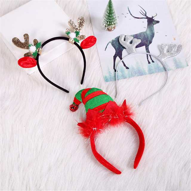 Christmas Headband For Adults.Us 1 03 43 Off Women Christmas Headband For Adult Christmas Deer Ears Christmas Party Santa Christmas Hair Band Clasp Headwear Gumki Do Wlosow On