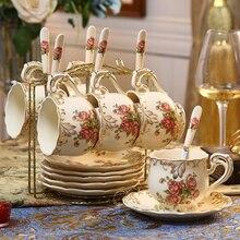 Ceramic coffee cup saucer set British teacup saucer set ceramic water cup afternoon tea cup nice birthday gift Household mug klimt classic kiss design coffee cup and tea saucer ceramic