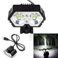 15 # 6000LM 2 X 크리 어 XM L T6 LED USB 방수 램프 자전거 자전거 헤드 라이트 자전거 조명 자전거 라이트 램프 야외 사이클링 camoing 자전거용 등 스포츠 & 엔터테인먼트 -