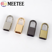 Meetee 5/10pcs Metal Bag Side Clip Buckles Screw Chain Handles Hang Hook DIY Luggage Strap Band Buckle Hardware Accessory BF438