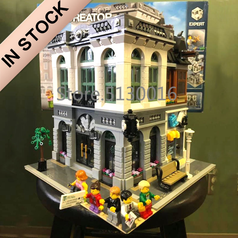 10251 Creator Brick Bank Bench 15001 84001 2413Pcs Street View Building Blocks Bricks 15006 15034 15035 15005 15007 15011 Toy
