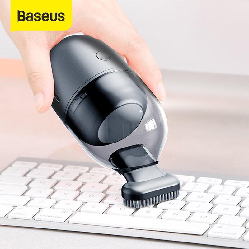 Baseus C2 미니 데스크탑 진공 청소기 휴대용 책상 청소 도구 PC 노트북 키보드 학교 교실 사무실|진공 청소기| - AliExpress
