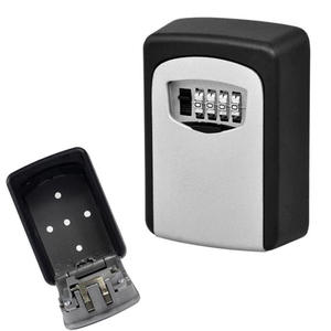 Lock-Box Key-Holder Wall-Mounted Anti-Thief Hider Code Outdoor 4-Digit-Combination Resettable