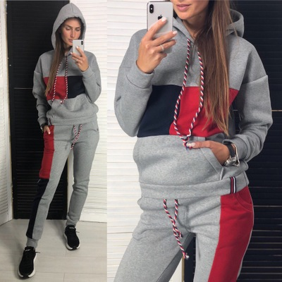 New Casual Sports Suit Hoodie Long Sleeve Sports Running Clothes Women's Sportswear Suit