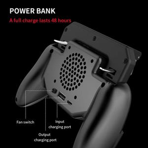 Image 2 - בקר gamepad ג ויסטיק R1 L1 Shooter joypad משחק pad Cooler מאוורר עם 2000/4000mAh כוח בנק l1r1 עבור טלפון אנדרואיד iphone
