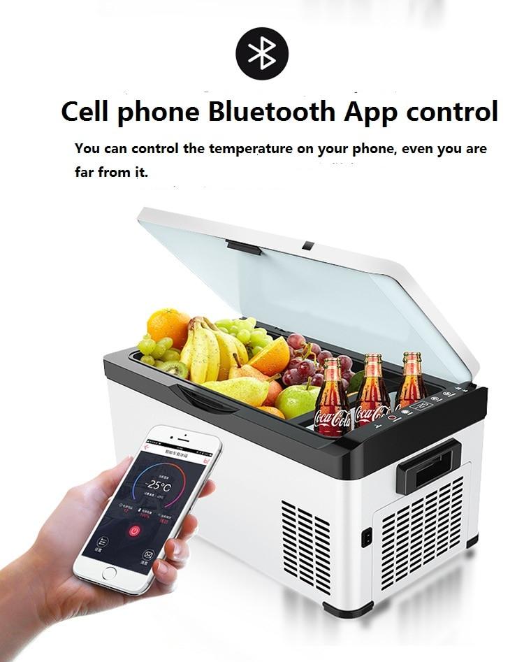 -25C App Control Car Refrigerator Compressor Cooling Box Car And Home Dual Use 12V24V Refrigerated Small Fridge Camping Freezer