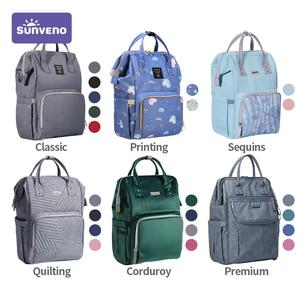 Image 5 - Sunveno New Diaper Bag Backpack Large Capacity Waterproof Nappy Bag Kits Mummy Maternity Travel Backpack Nursing Handbag