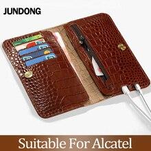 For Alcatel X1 S1 1C 3 3L 2019 A30 7 C7 A7XL Pixi 4 5.0 Case Crocodile Texture Cover Cowhide Phone Bag Wallet