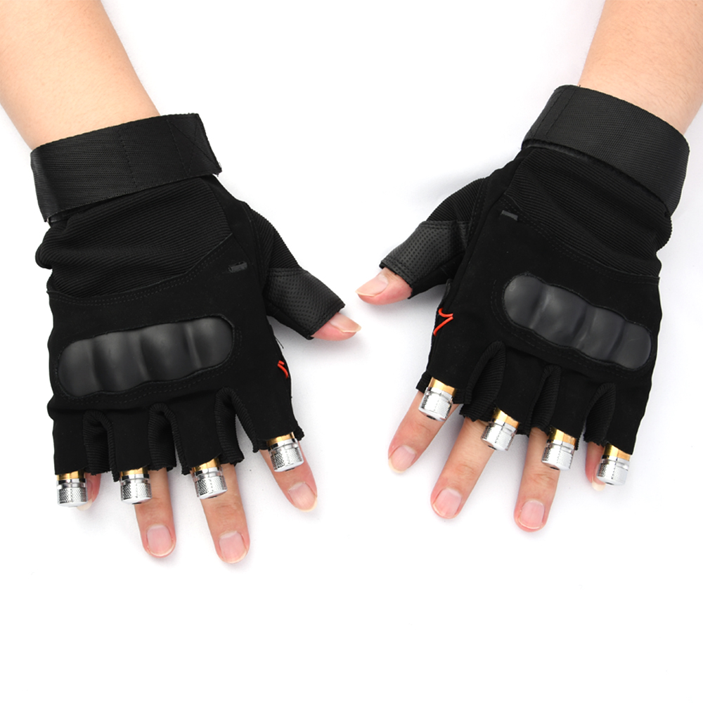 Image 2 - Red Green Purple  Laser Gloves Dancing Stage gloves laser Palm Light For DJ Club/Party/Bars Stage finger Light  Personal props-in Novelty Lighting from Lights & Lighting