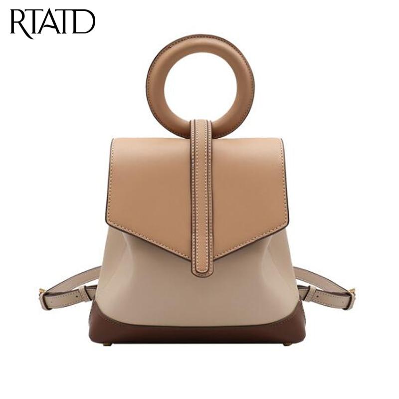 Women's Genuine Leather Shoulder Bag 2019 New Patchwork Design High Capacity Ladies Bucket Women Handbags For Female Tote