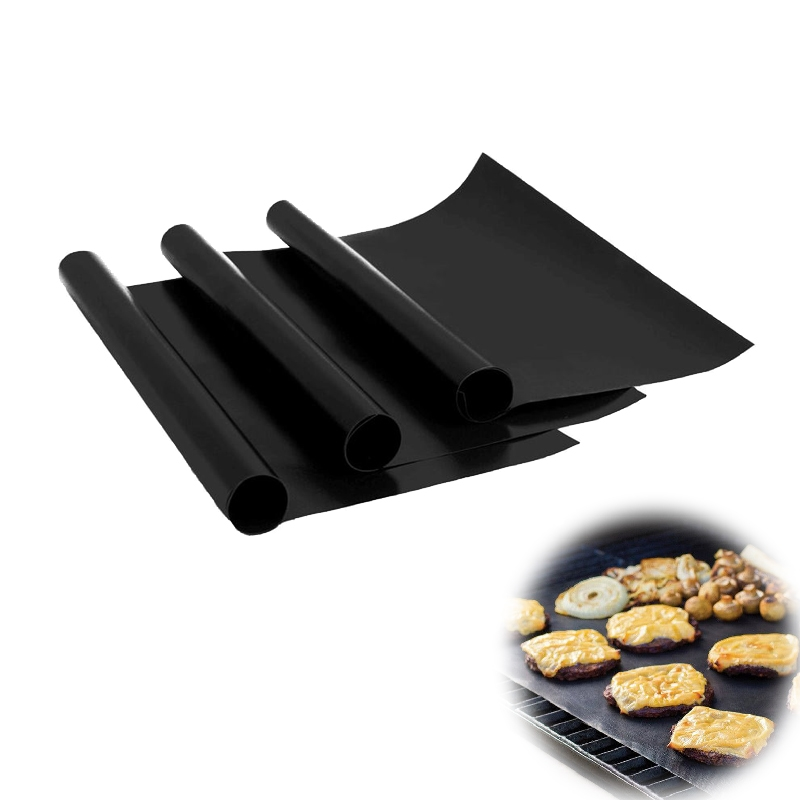 5PCS Non-stick Heat Resistant Reusable Pan Chef Grill Mat BBQ Pad Tool
