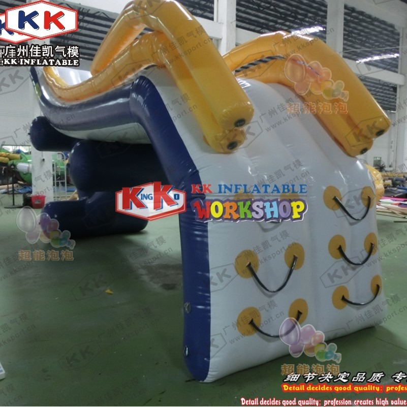 KK Factory Inflatable Dock Slide/ boat use Inflatable slide/ yacht water slide for sale - 4