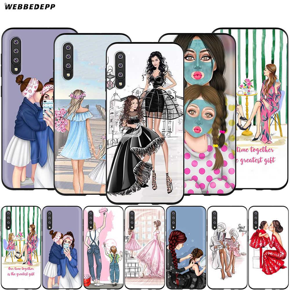 Webbedepp bebek anne kız prenses samsung kılıfı Galaxy A3 A5 A6 artı A7 A8 A9 J6 M20 A10S A20S A30S A40S a50S