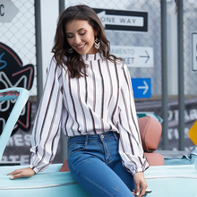 Fashion Maternity Shirt Bow Back Lantern Long Sleeve Loose Striped Womens Tops and Blouses Sexy Boho Style Wear