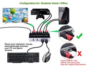 Image 4 - 2020 4K 60Hz KVM Switch HDMI 2 Port HDMI KVM Switch USB  PC Computer KVM Switch Keyboard Mouse Switcher Box for Laptop,PS4,Xbox