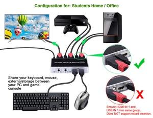 Image 4 - 2020 4K 60Hz KVM commutateur HDMI 2 ports HDMI KVM commutateur USB ordinateur KVM commutateur clavier souris commutateur boîte pour ordinateur portable, PS4,Xbox