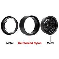 "INJORA 4Pcs 1.9"" Beadlock 12-Holes Wheel Rim Hub for 1/10 RC Crawler Car Axial SCX10 90046 D90 Traxxas TRX-4 5"