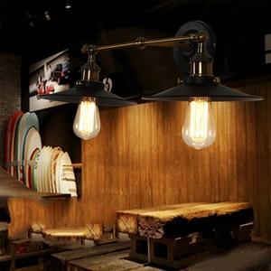 Image 4 - Lampara lampe murale Vintage, éclairage mural, 85/265V, E27, mur LED, miroir, idéal pour la maison, Bar, Loft