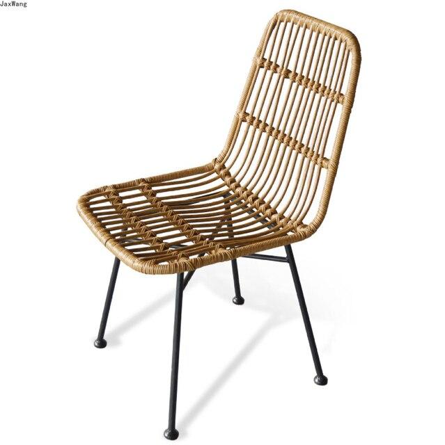 Hand-Woven Iron Balcony Chair 3