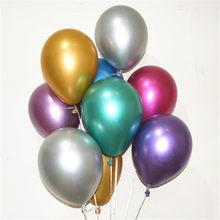 50 pçs 5/10/12 polegada novo brilhante metálico látex balões grosso cromo metálico inflável hélio balão decoração da festa de aniversário ballon