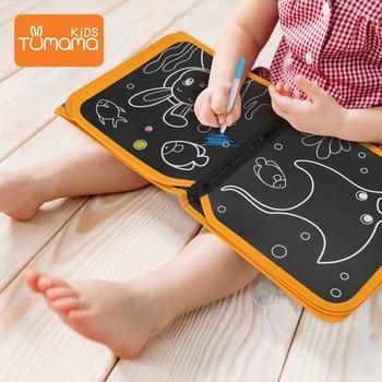 Tumama Drawing Board Book Animal Coloring Book DIY Blackboard Painting with Felt-tip Pens Kids Toys Birthday Gift libro pizarra