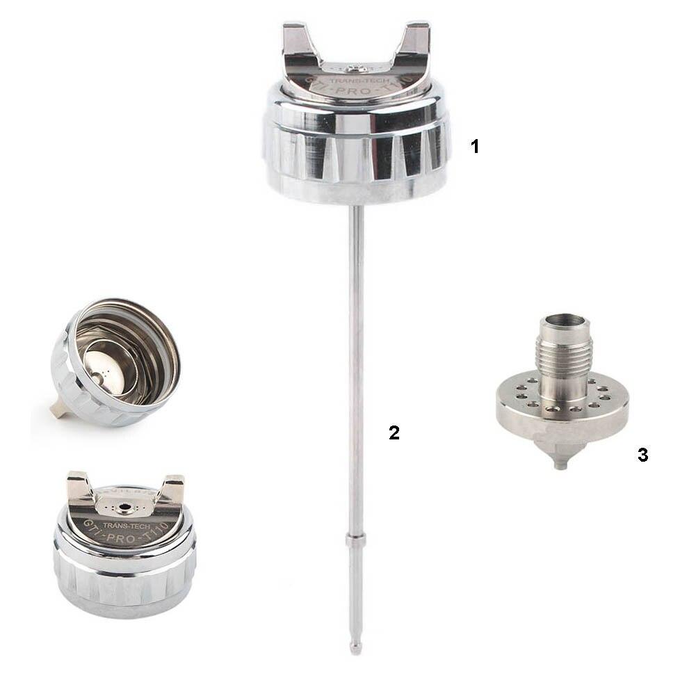 Aluminium HVLP  Spray Gun GTI Pro Lite  Replacement Air Cap 1 3 1 4 1 8 Tip Fluid Air Cap  amp  Nozzle  amp  Needle set Kit Repair