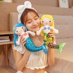 Плюшевая игрушка, мультяшная Русалка, гуманоидная кукла, подушка, Детская удобная мягкая плюшевая игрушка, милая кукла, удобная подушка, 30 с...