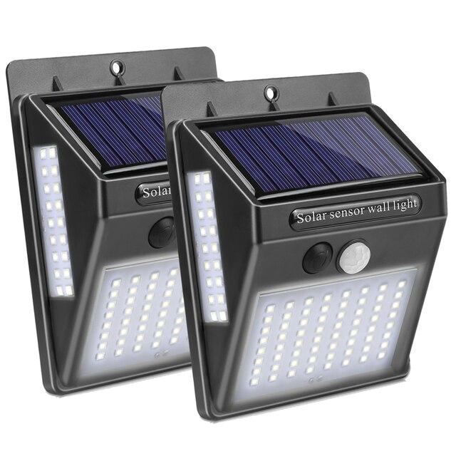 Solar Garden Lamp LED Solar Lamp Waterproof Motion Sensor Outdoor Lighting Decoration Street Lights Wireless Security Wall Sconce