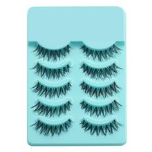 цены 5 Pairs Beauty Makeup Handmade Fake Eyelashes Long Thick Cross False Eyelashes Eye Lashes Makeup Maquiagem