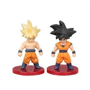 Image 3 - 3 pçs/set Luta Contra a Forma do Anime Dragon Ball Z Super Saiyan Goku Vegeta Preto Figura Coleção Ação PVC Modelo Toy Kid Presente