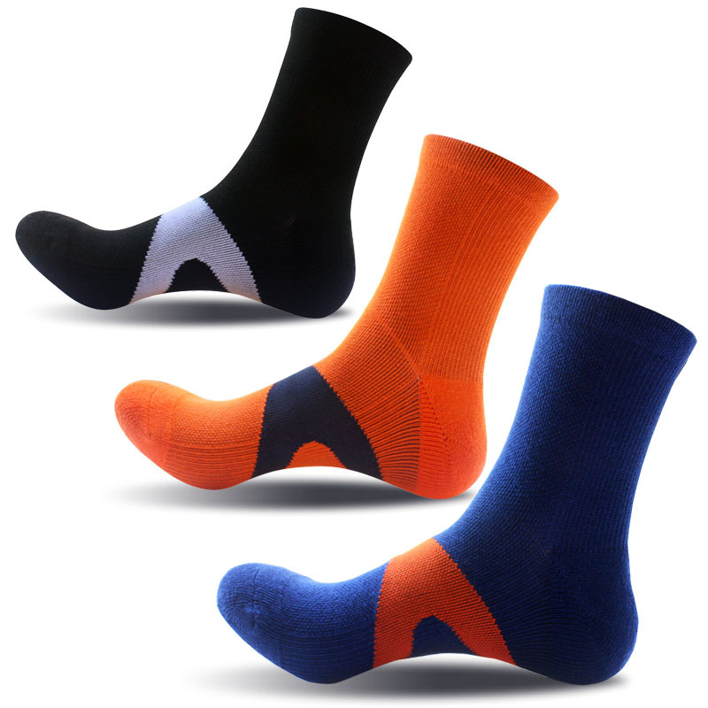 Men's Pressure Sports Socks Right Heel Pull Strengthen Basketball Socks Sports Compression Skiing Hiking Socks Thermosocks