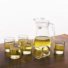 Толстые термостойкие бессвинцовые стеклянные чашки пивные напитки сок чашки большая стеклянная тарелка холодный чайник Набор стеклянная чашка рюмка
