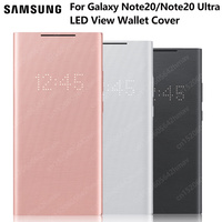 Samsung Original LED View Wallet Cover Protection Case For Galaxy Note 20 Ultra Note20 5G Sleep Function Card Pocket