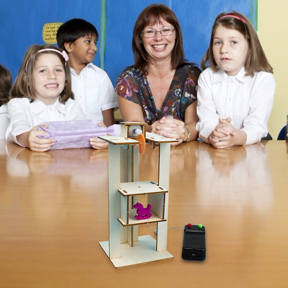 DIY Assemble Electric Lift Elevator Cultivate Hands-on And Thinking Skills Kids Science Experiment Toys School Project