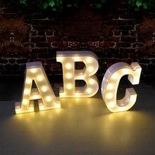 Diy светодиодный ночник с цифрами букв 3d Настенный декор для