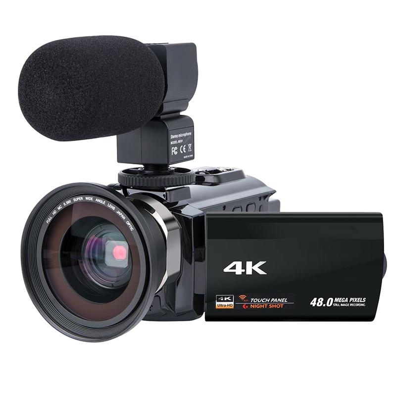 Видеокамера видеокамера 4K Ultra Hd цифровая Wifi камера 48.0Mp (интерполяция) 3,0 дюймов пресс-экран 16X цифровой зум-рекордер Wit