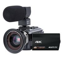 Video Camera Camcorder 4K Ultra Hd Digital Wifi Camera 48.0Mp(Interpolation) 3.0 Inch Press Screen 16X Digital Zoom Recorder Wit