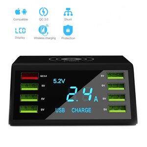 Image 3 - Nhanh Charge3.0 Sạc Không Dây 8 Cổng USB Sạc Nhanh Cho Iphone XR Max Samsung S9 S8 Huawei P20 P 30 xiaomi Mi Note 10 Pro