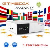 GTmedia GTC Android TV BOX support 2.4G/5G WIFI support IPTV subscription M3U Netflix media box +1 year 5clines Smart TV BOX