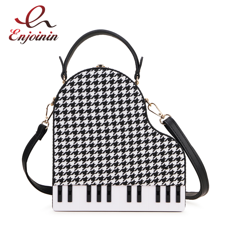 Novel Design Houndstooth Piano Style Fashion Women Party Purses And Handbags Crossbody Bag Ladies Shoulder Bag Tote Bag Pu Pouch