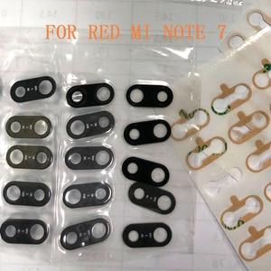Стеклянные линзы Note 7 для REDMI NOTE 7, 10/30/50/100 шт., линзы для камеры с наклейкой, замена стеклянных линз