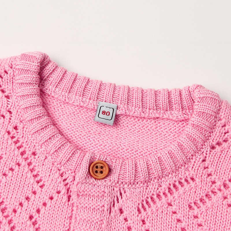 Peleles para recién nacidos de Primavera de manga larga para niños pequeños monos de Otoño de Color caramelo para niños monos de punto para niños ropa