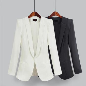2021 New Plus Size Women's Business Suits Spring Autumn All-match women Blazers Jackets Short Slim long-sleeve Blazer Women Suit