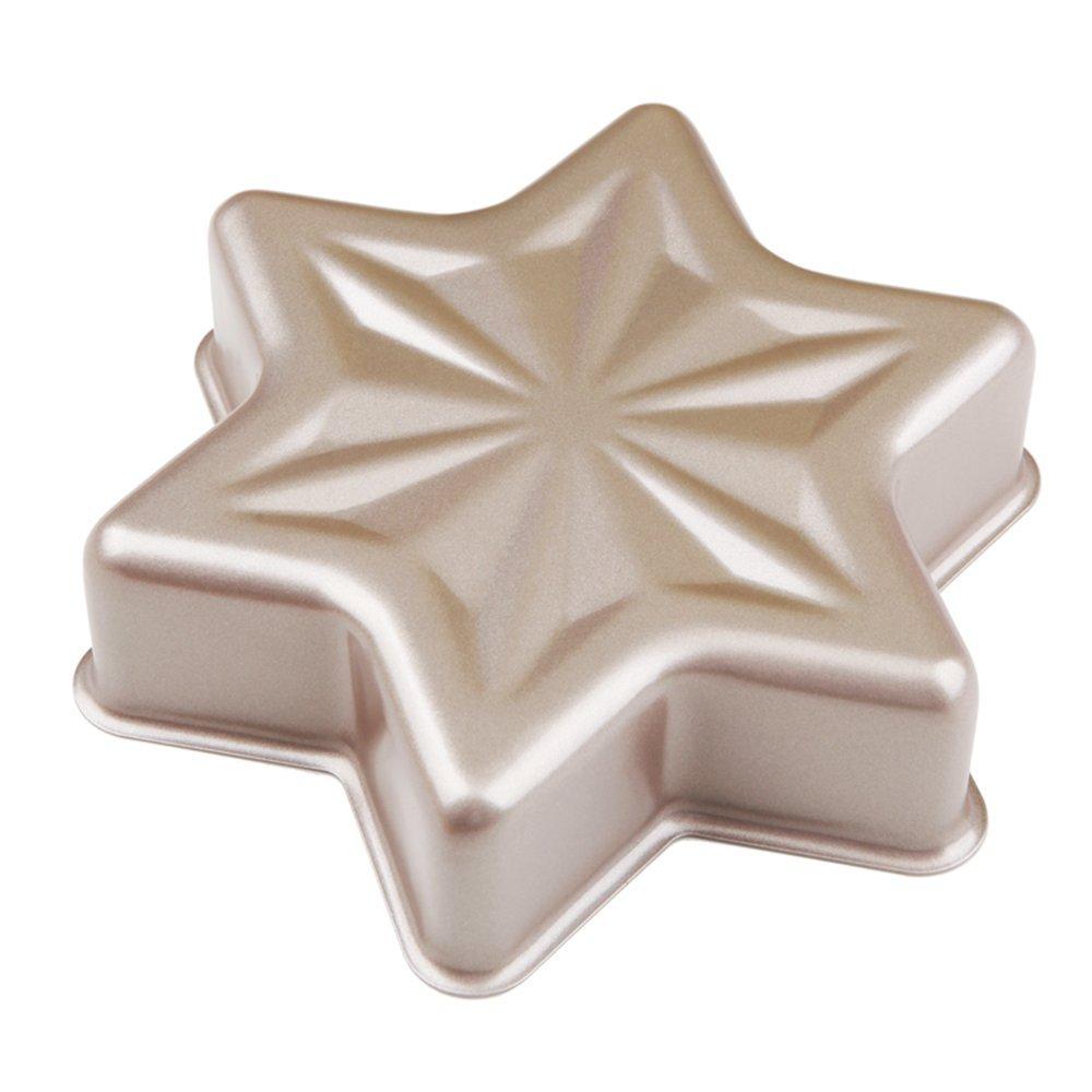 MyLifeUNIT Non-stick Snowflake Cake Pan Mold Bakeware Hex Star-Shaped Cake Bread Pan Kitchen DIY Baking Tools