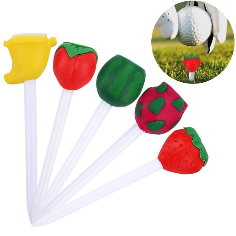 Leisure Playing Fruits Golf Nail Golf Tee Plastic Practical Practice Golfers Ball Tees Lovely Club Sporting Outdoor Cushion Top